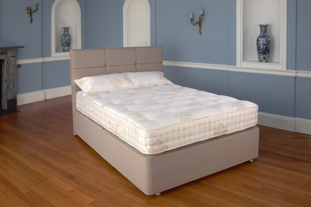 Relyon Marlow Pocket 1400 Divan Bed, Double, No Storage, Soft, Blueberry