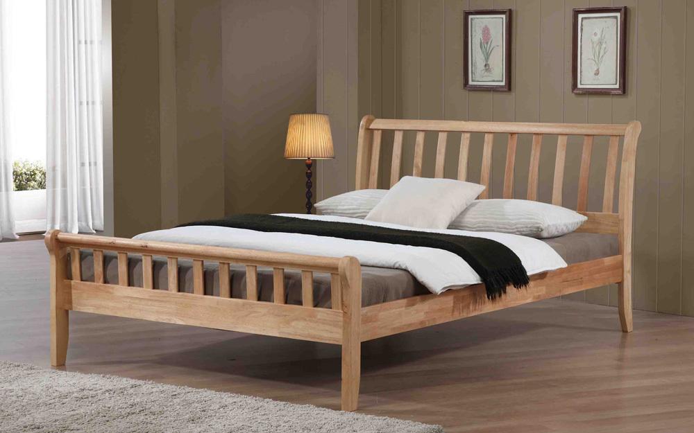 Flintshire Padeswood Hardwood Oak Finish Bed Frame King Size