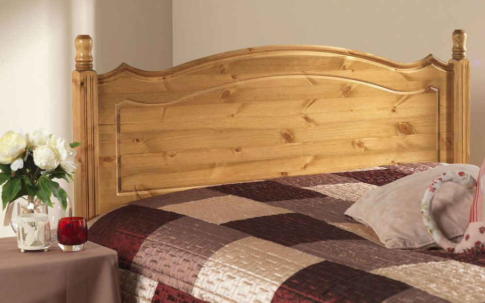 Friendship Mill Boston Solid Pine Wooden Headboard Small Double