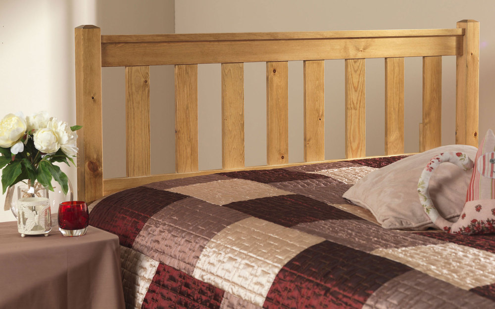 Friendship Mill Shaker Solid Pine Wooden Headboard Small Double