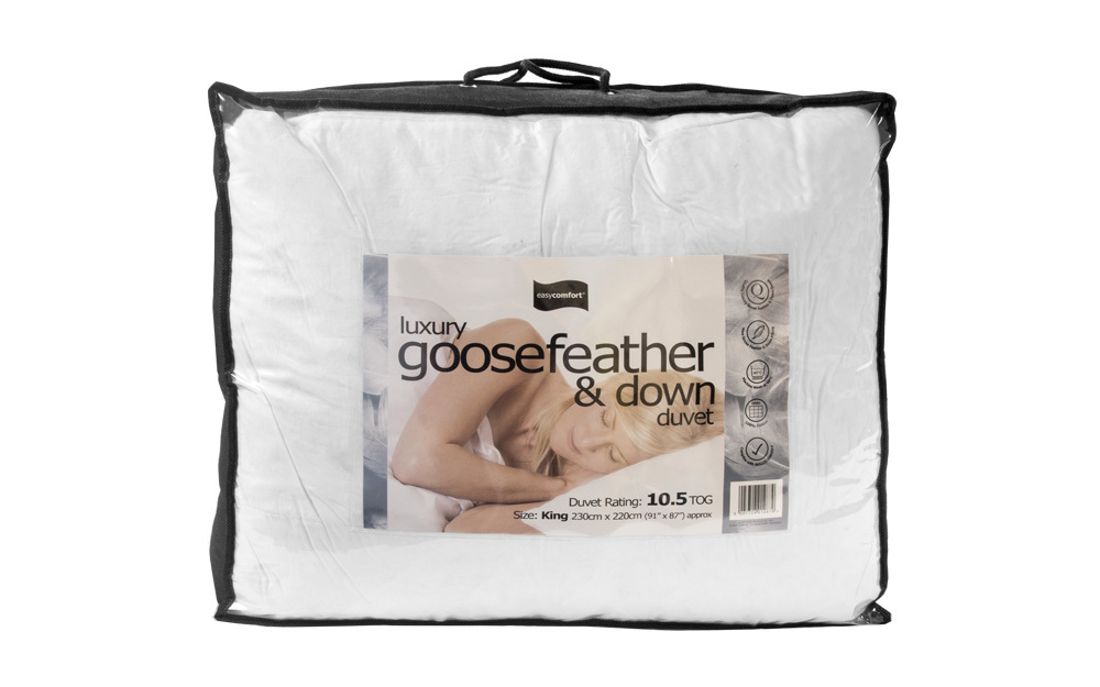Luxury 10.5 Tog Goosefeather and Down Duvet King Size