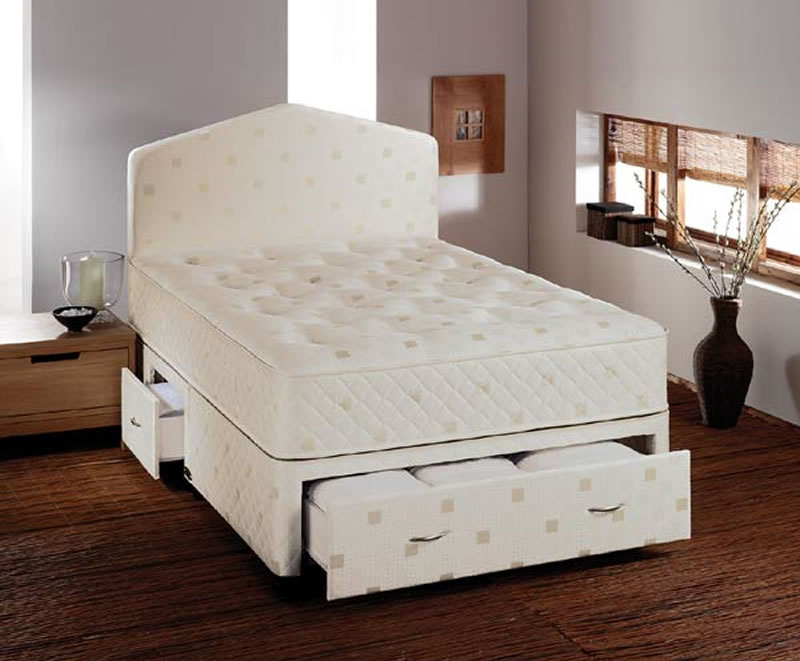Airsprung Melinda Divan Set, King Size, No Storage, Platform Base (Firmer Feel)