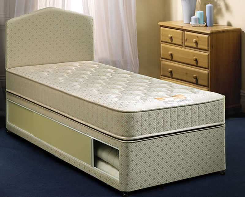 Airsprung Quattro Divan Set, Small Double, 2 Drawers