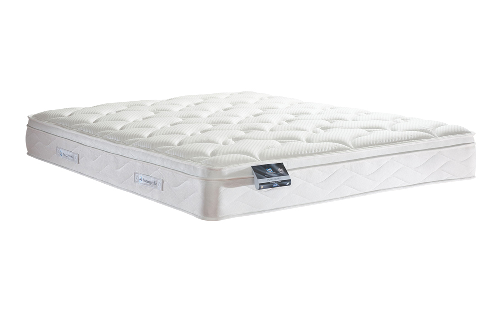 Sealy Posturepedic Pearl Geltex Mattress Superking Zip and Link