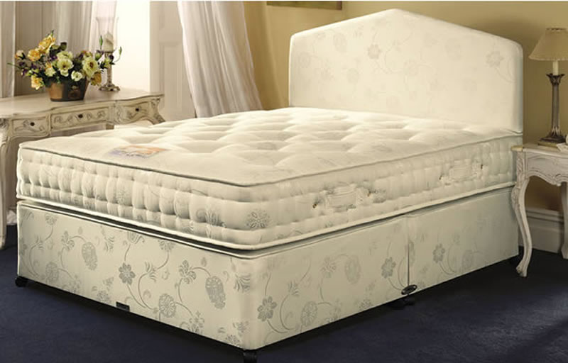Airsprung Symphony Pocket 1000 Divan Set, Single, Platform Base (Firmer Feel), No Storage