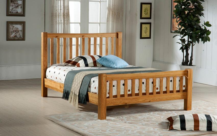 Time Living Denver Wooden Bed Frame King Size