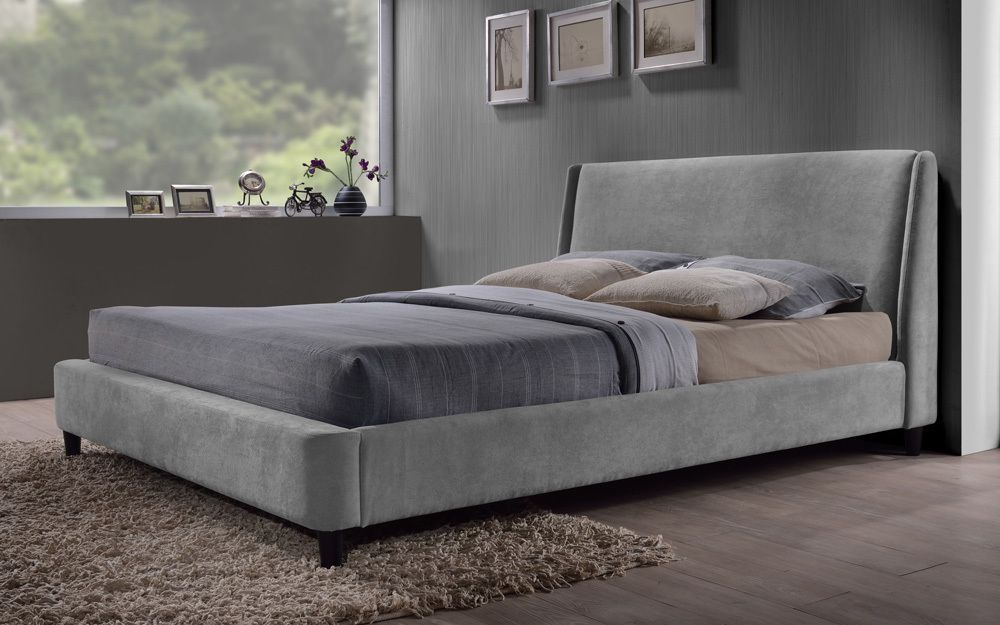 Time Living Edburgh Fabric Bed, Small Double, Sand