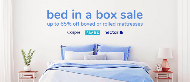 SALE - Up to 65% off boxed or rolled mattresses