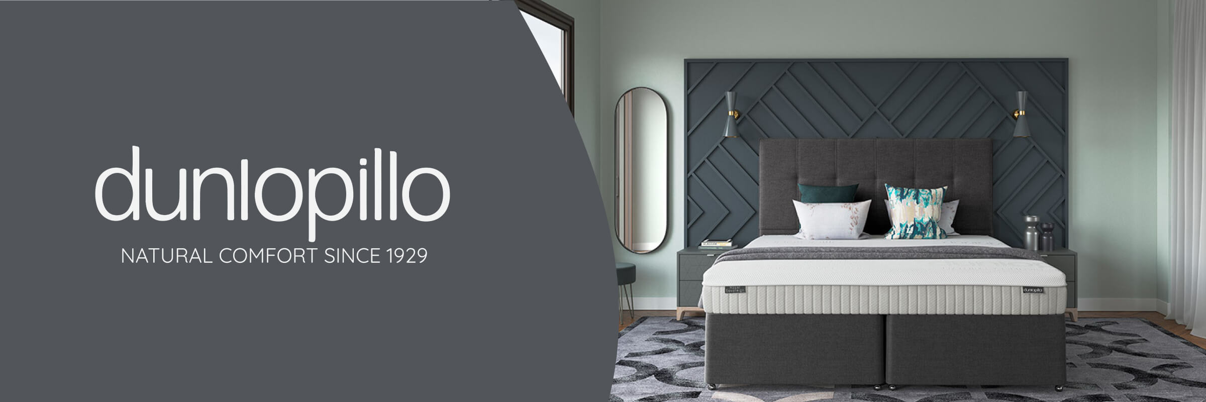 Dunlopillo mattresses and divan beds: natural comfort since 1929