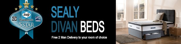 Sealy Divans at MattressOnline. Free 2 Man delivery to your room of choice