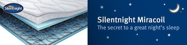 Silentnight Miracoil Range at MattressOnline. The Secret to a Great Night's Sleep