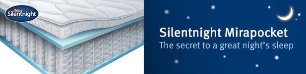 Silentnight Mirapocket Range at MattressOnline. The Secret to a Great Night's Sleep