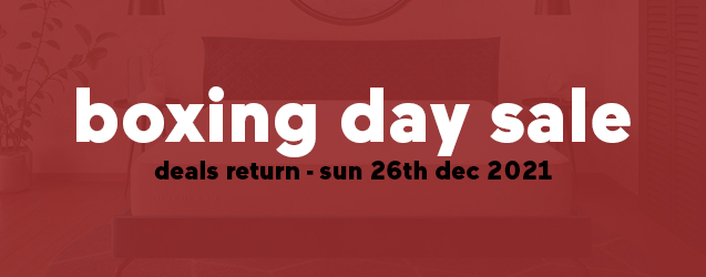 Our Boxing Day Mattress Sale returns Sun, 26th December 2021