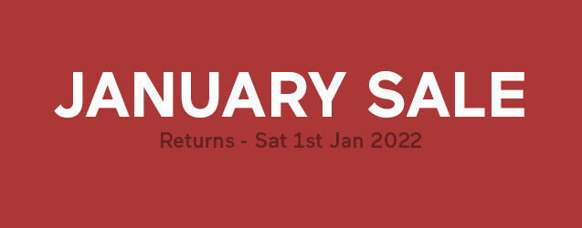 Our January Mattress Sale returns Sat, 1st January 2022