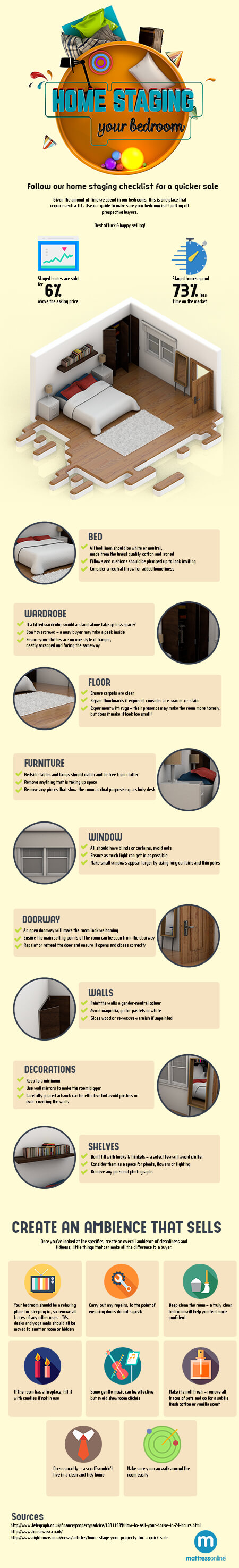 The Secrets of Home-Staging Your Bedroom Infographic