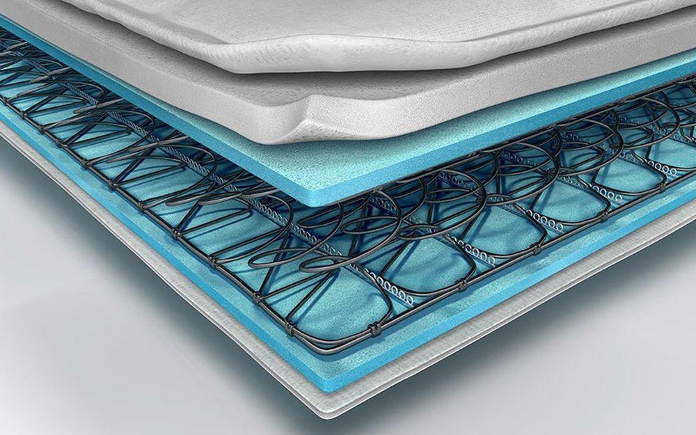 A cross-section of a Silentnight mattress