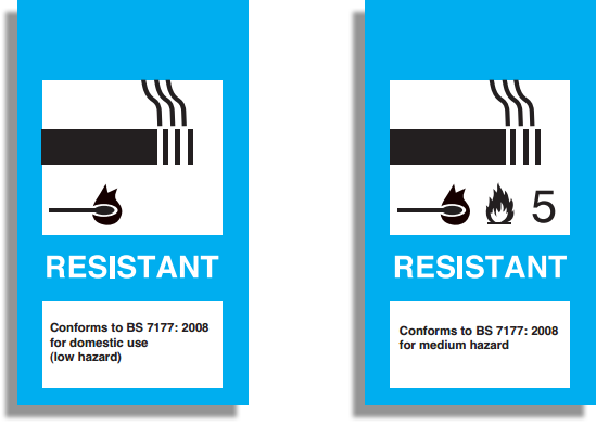 BS7177 Fire Resistant Labels