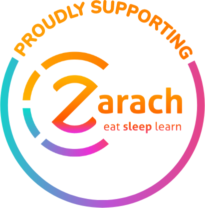 Badge to show Mattress Online proudly supports Zarach charity
