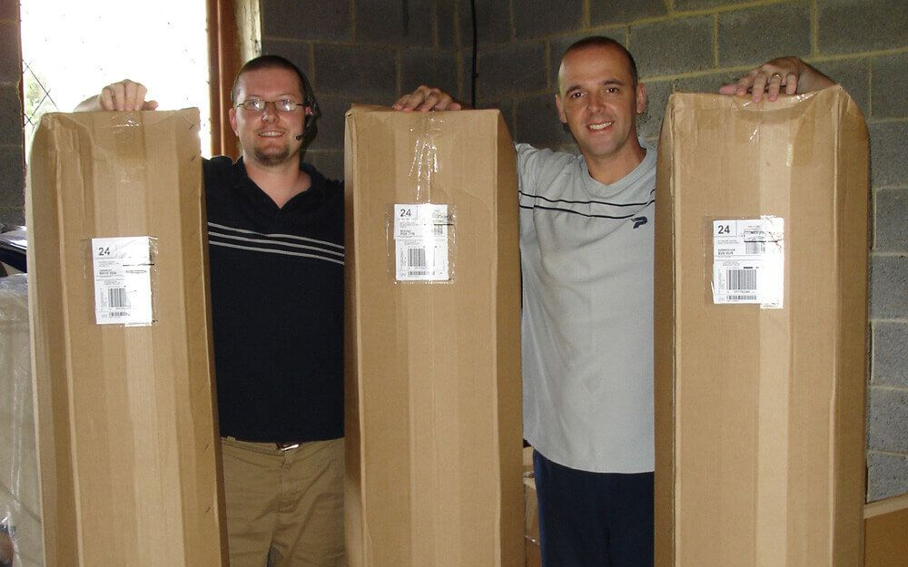 Steve Kelly and Steve Adams on their first dispatch day in 2003