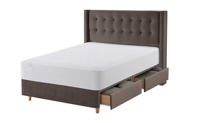 Bloomsbury Bed Frame Charcoal Cut Out With Mattress