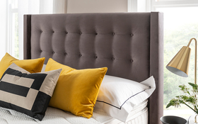 Bloomsbury Bed Frame Charcoal Lifestyle Headboard