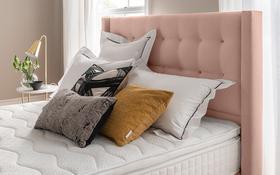 Bloomsbury Bed Frame Dusky Pink Lifestyle Headboard