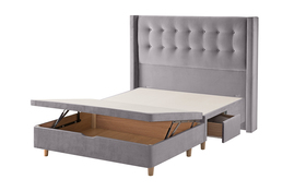Bloomsbury Bed Frame Silver Cut Out Half Ottoman