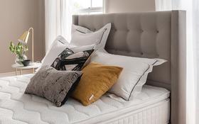 Bloomsbury Bed Frame Silver Lifestyle Headboard
