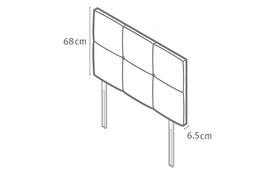 Castello Headboard Dimensions Diagram