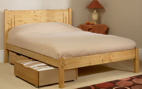 Friendship Mills Vegas Pine Bedstead With Drawers