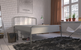 Hove Bed Frame Grey With Mattress