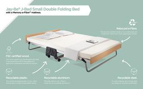 J Bed Memory E Fibre Small Double Materials Diagram
