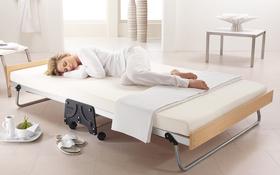 J Bed Memory E Fibre Small Double Woman Sleeping