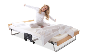 J Bed Memory E Fibre Small Double Woman Stretching Cut Out