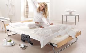 J Bed Memory E Fibre Small Double Woman Stretching