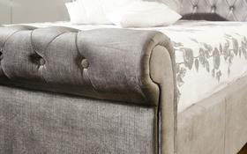 Limelight Orbit Bed Frame Plush Silver Scroll 2