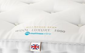 Millbrook Beds Wool Luxury 1000 Label