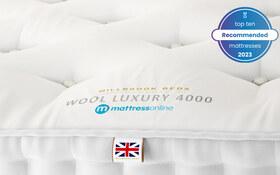 Millbrook Beds Wool Luxury 4000 Label Top10