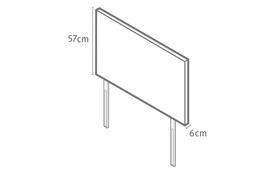 Paris Headboard Dimensions Diagram
