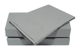 Percale Fitted Sheet Grey