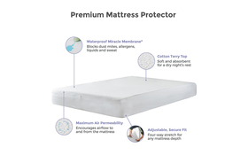 Protect A Bed Premium Waterproof Mattress Protector Diagram