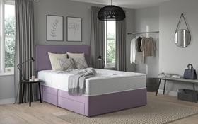 Relyon Comfort Pure 1400 Pocket Memory Mattress Divan Bed Room