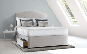 Sealy Posturepedic Pearl Memory Divan Bed Roomshot