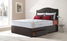 Sealy Posturepedic Pearl Ortho Divan Bed Roomshot