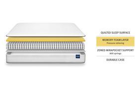 Silentnight 800 Mirapocket Memory Mattress Bisection