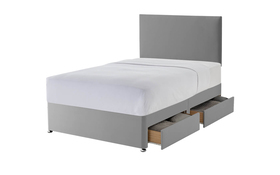 Silentnight Grey Divan Four Drawers