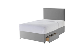 Silentnight Grey Divan Two Drawers