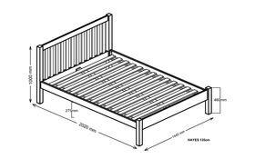 Silentnight Hayes Bed Frame Double Dimensions