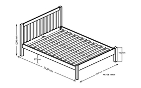 Silentnight Hayes Bed Frame King Size Dimensions