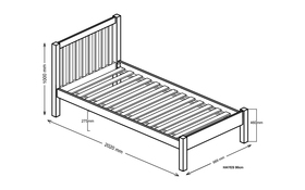 Silentnight Hayes Bed Frame Single Dimensions